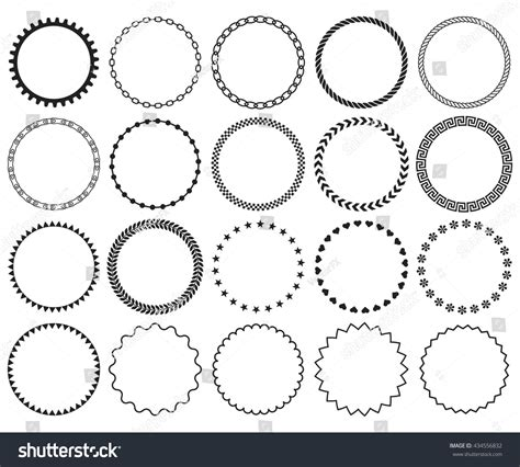 border decorative element patterns vector decorative frame set collection vector circle stock vector