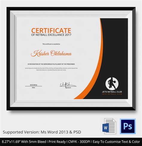 web design certificate gmu 5 netball certificates psd word designs design