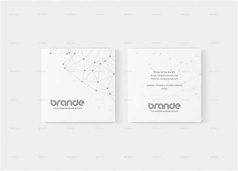 square business card mockup product mockups creative market