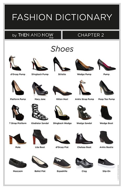 types of shoes shoes infographic types of shoes fashion dictionary