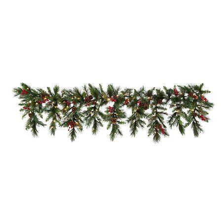 6ft cascading fireplace garland 6 ft led lighted battery operated cascading garland decor