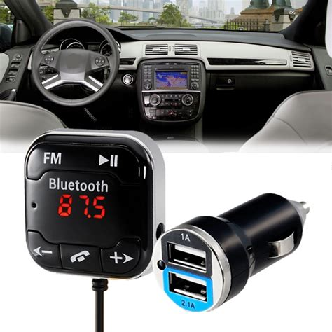 Bluetooth Car Kit H7 Led Fm Transmitter Bt 20 Dual Berkualitas aliexpress buy car bluetooth kit fm transmitter audio receiver call tf card car
