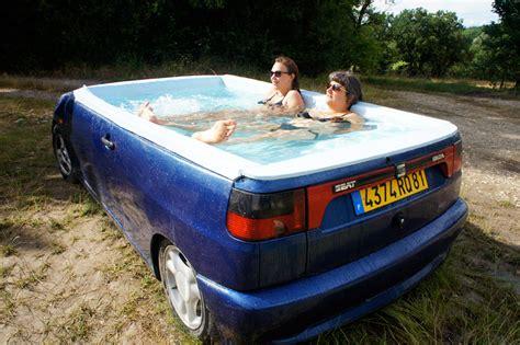 Cars Bathtub by Benedetto Bufalino Turns Seat Ibiza Sedan Into A