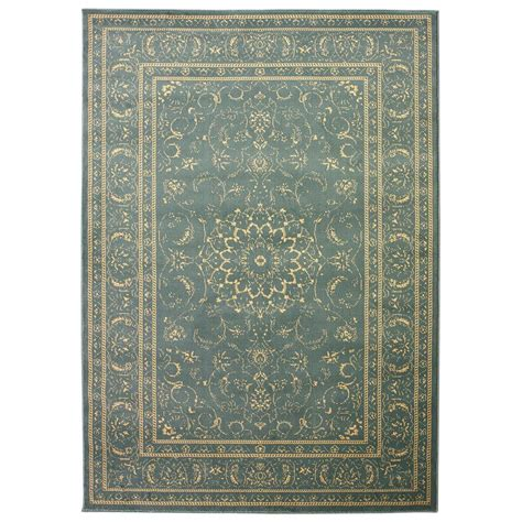 Teal Area Rug 8x10 Collection Medallion Teal And Beige 7 Ft 10 In X 9 Ft 10 In Area Rug Qnn2776