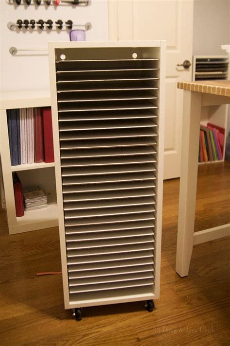 Craft Room Paper Storage - diy paper storage ikea in the scraproom