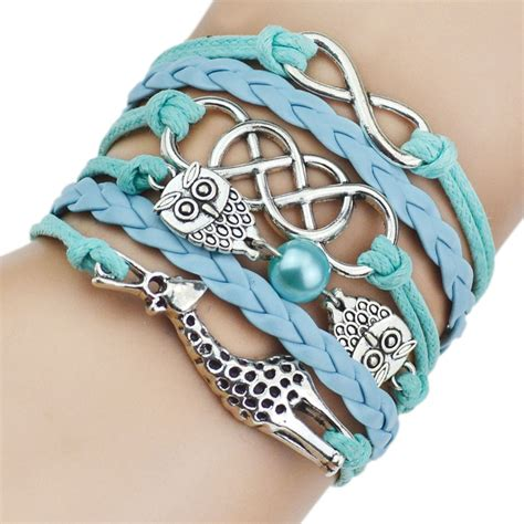 Handmade Bracelets For - handmade jewelry infinity multilayer leather