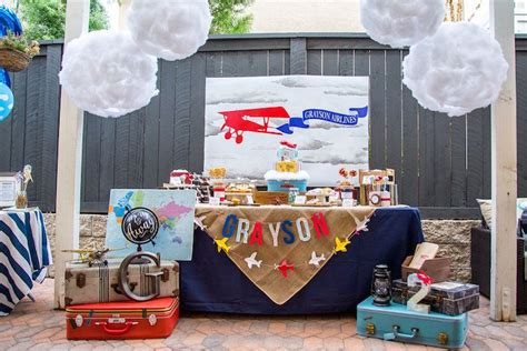 Vintage Airplane Birthday Decorations by Kara S Ideas Vintage Airplane Birthday Kara