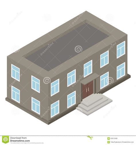 new 3d house isolated on white background new architecture isometric house stock illustration