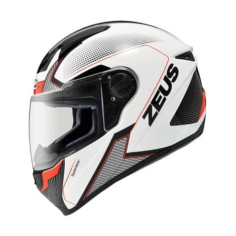 Helm Zeus Zs 811 jual zeus zs 811 helm white al6 black harga kualitas terjamin