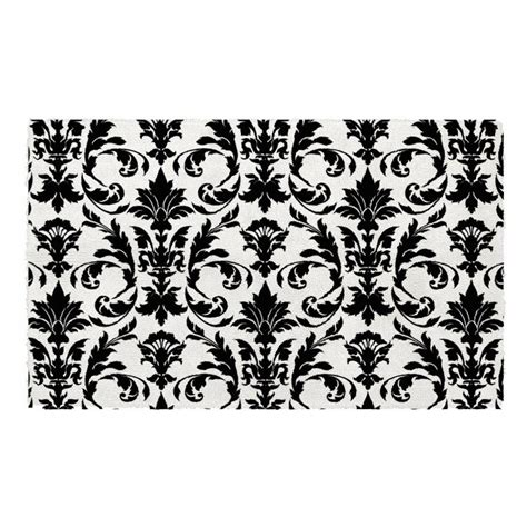 Damask Bath Rug Black Damask Bath Rug Carpet Review
