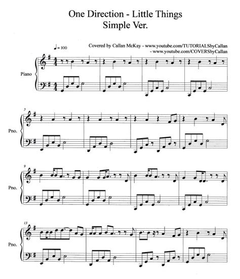 tutorial guitar little things one direction easy piano sheet music free printable what