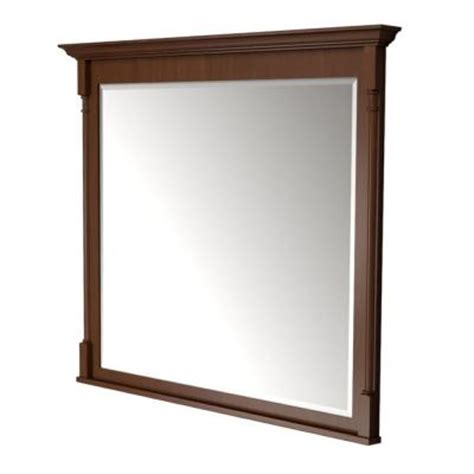 Kraftmaid Bathroom Mirrors Kraftmaid 42 In L X 48 In W Framed Wall Mirror In Autumn Blush Stain Fm4836 S7 Kmhv The Home