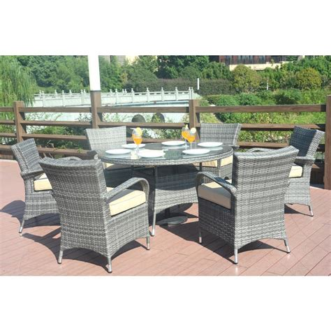 Patio Direct - direct wicker sicily 7 wicker outdoor dining set