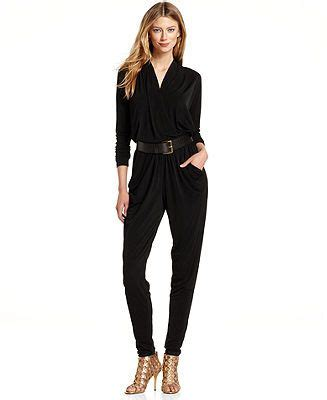 dressy jumpsuits at macys for women michael michael kors jumpsuit long sleeve belted skinny