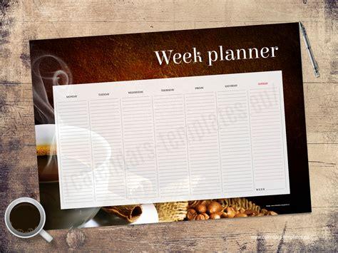 desk planner template a2 desk printable weekly planner weekly agenda template