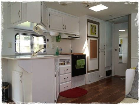 trailer kitchen cabinets rvs with white cabinets google search tiny homes diy shelters pinterest renovasi