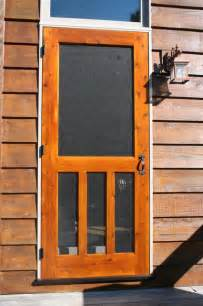 Screened Doors by Wood Screen Door Traditional Screen Doors