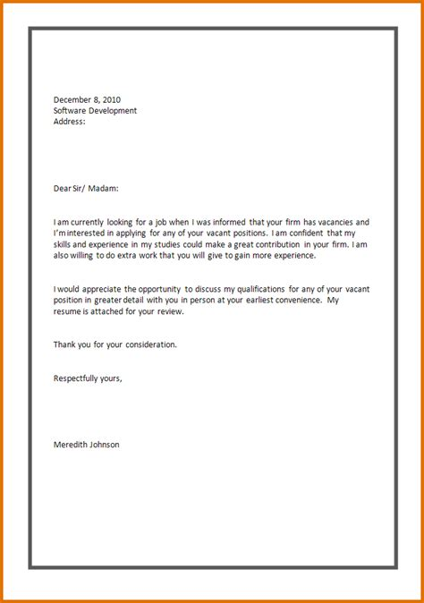 Recommendation Letter Format For Application Sle Of Application Letter And Resumereference Letters