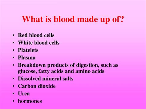 What Is L Made From by Ppt The Components Of The Blood Powerpoint Presentation