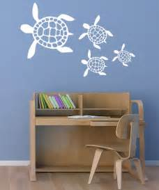 turtle wall stickers white sea turtles wall decal set