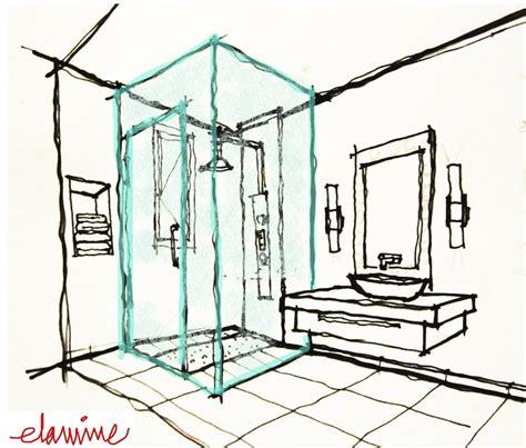 bathroom sketch design scribblelicious