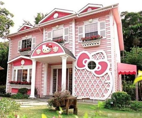 hello kitty mansion bow cute girly hello kitty home house image 64339