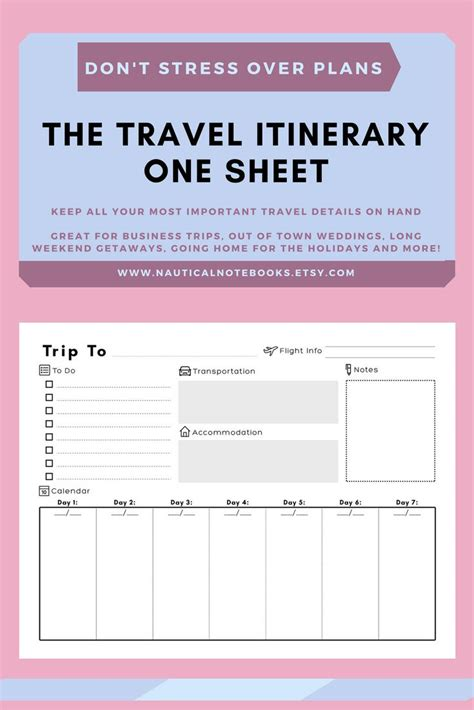 Best 25 Travel Itinerary Template Ideas On Pinterest Travel Planner Free Vacations And Family Vacation Planner Template