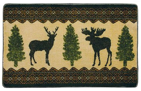 Rustic Bathroom Rugs Wooldrich Woodland Bathrug Rustic Picture