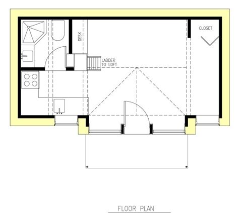 tiny house plans under 300 sq ft mini b 300 sq ft passive tiny house by joseph giietro