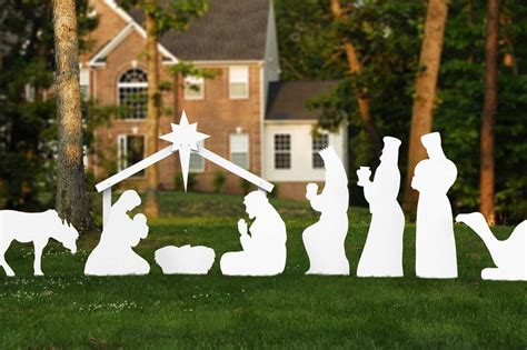 outdoor christmas decorations nativity set www