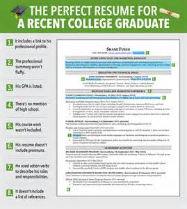 excellent resume for a recent college graduate six