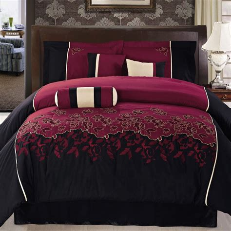 burgundy comforter sets king size 7pc burgundy lava 100 polyester bedding luxury king