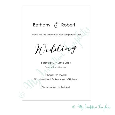 wedding e invitation templates printable wedding invitation template modern calligraphy