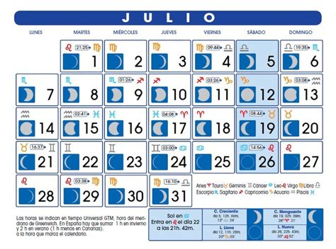 Calendario Galvan Nombres Calendario Lunar Julio De 2014 La Ladrona De Libros