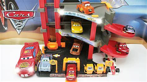 Mcqueen Garage cars 2 parking garage lightning mcqueen mater