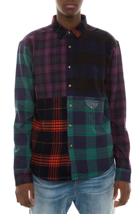 Patchwork Flannel - 10 shirt patchwork flannel multi karmaloop