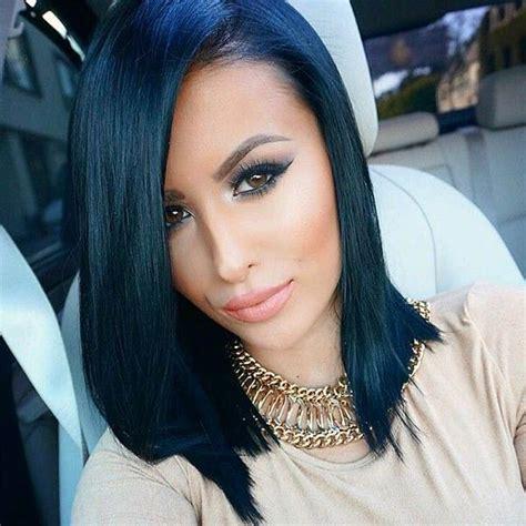 imagenes de cabello negro en morenas las 25 mejores ideas sobre cabello negro azulado en