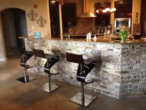 Kitchen Breakfast Bars Designs arizona tile 3d stacked stone under bar kitchen pinterest