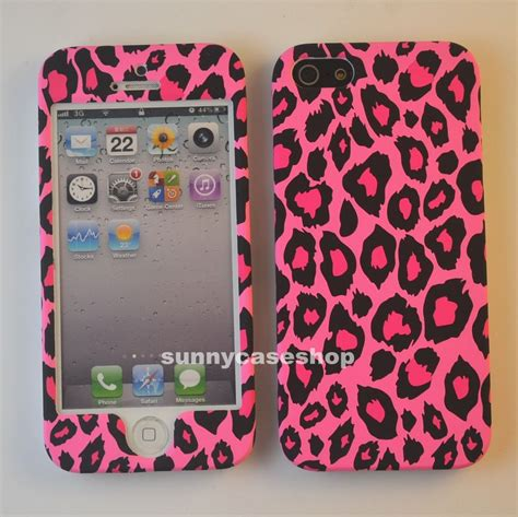 Sticker Front Back Iphone 5 Hello 1 pink leopard fullbody front back cover for