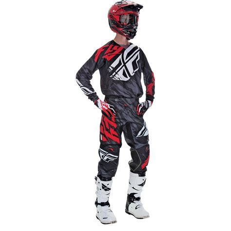 fly racing motocross gear fly racing 2017 mx new kinetic relapse black red jersey