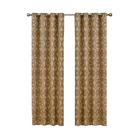 cafe curtain length eclipse patricia blackout cafe grommet curtain panel 84
