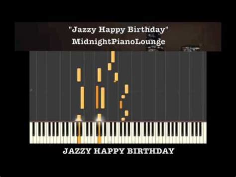 keyboard tutorial happy birthday jazzy happy birthday piano tutorial in g major youtube