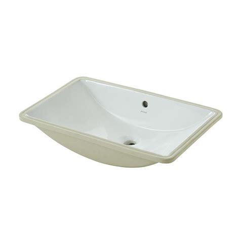 shop jacuzzi mika white undermount rectangular bathroom