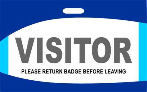 Decorative Visitor Badge Name Tag Wizard Visitor Badge Template