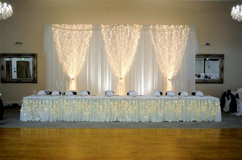 Cheap Fabric For Wedding Draping Top Table Backdrop For Wedding Reception In Hertfordshire