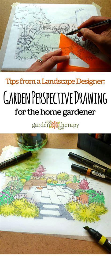 tips   landscape designer garden perspective drawing