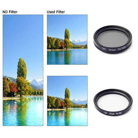 Filter Uv 37mm T2909 37mm filter adapter glass uv cpl lens protective cap for gopro 3 3 4 lf368 ebay
