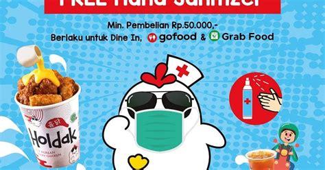 promo holdak peduli sehat gratis hand sanitizer