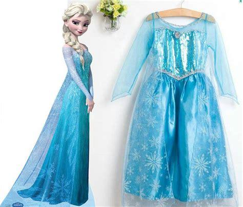 kostum princess anna frozen jual baju dress kostum elsa ana frozen vouge dropship 510