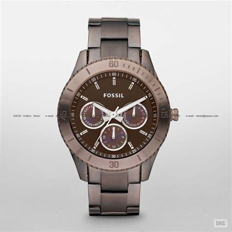 Fossil Ss fossil es3021 s analogue stella multi ss bracelet brown kuala lumpur end time 6 21